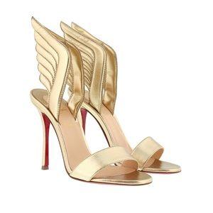 Auth Louboutin samotresse wing sandals 37